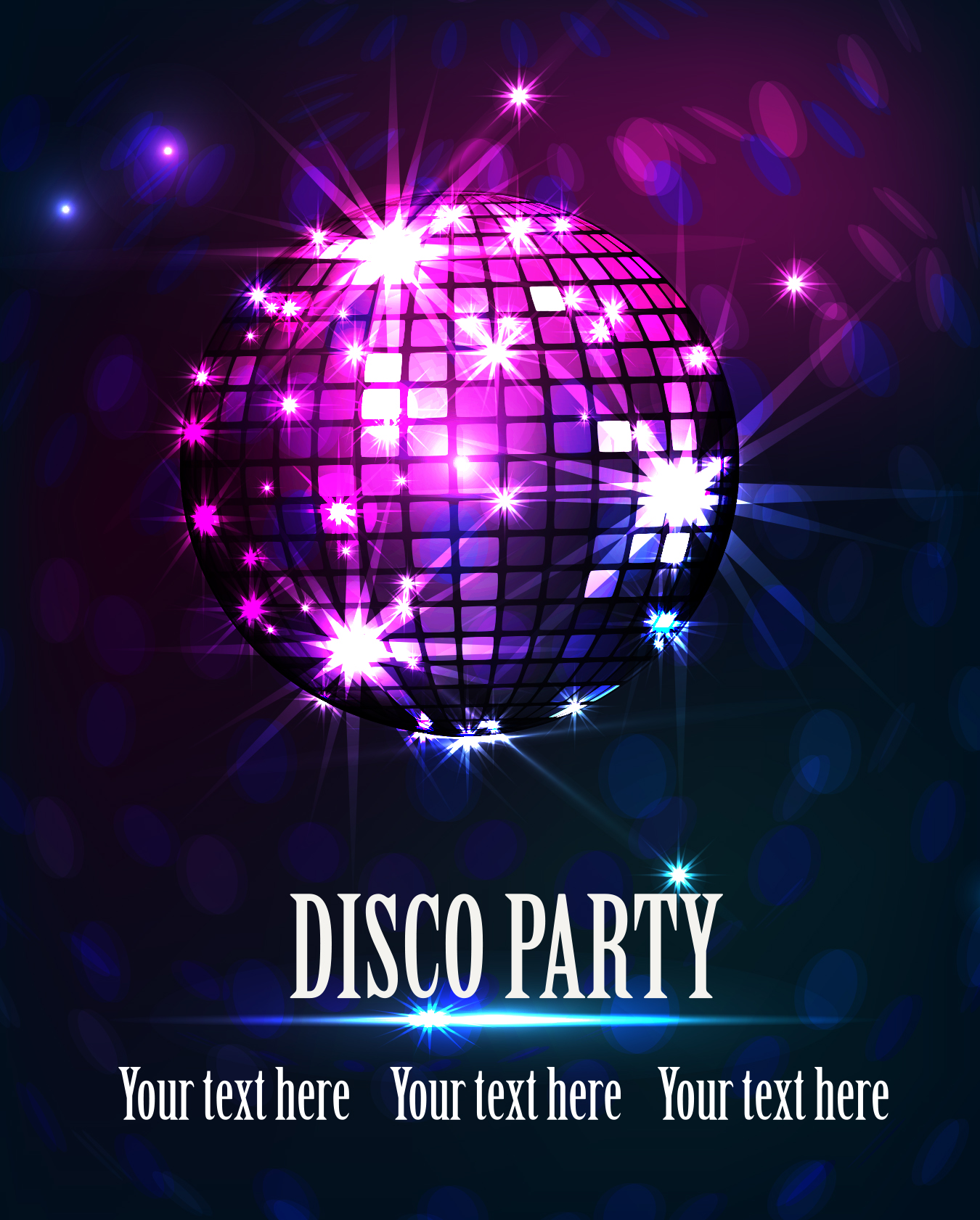 80S Theme Party Invitations with awesome invitation layout