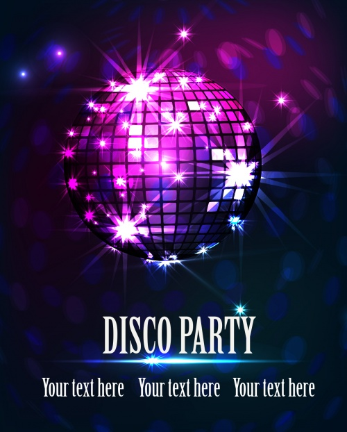 80S Theme Party Invitations with beautiful invitations template