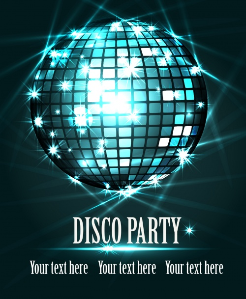 Disco Party Backgrounds Vector