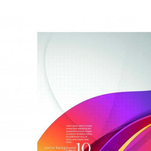 Абстрактные линиии фоны | Overlapping smooth curve lines vector backgrounds