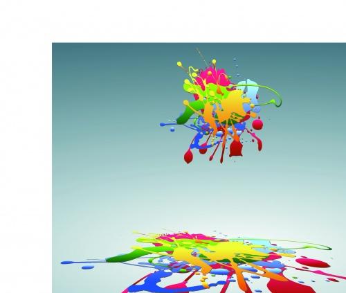 Цветные капли краски | Splashes of colour vector