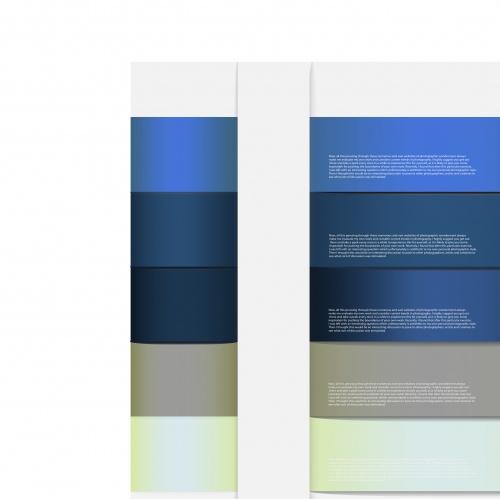 Баннеры с номерами часть 8 | Design with number banners vector set 8