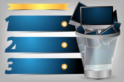 Векторные креативные баннеры онлайн покупок / Creative Template light bulb in the shopping cart in vector