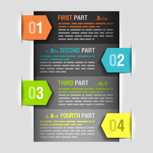 Инфографика, часть 16 / Infografic elements in vector set 16