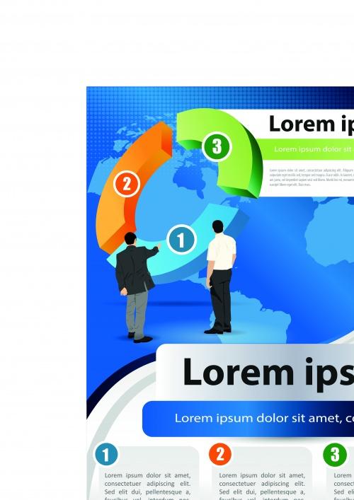 Бизнес флаеры | Business flyer vector background