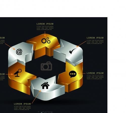 Инфографики креативный дизайн часть 15 | Infographic creative design vector set 15