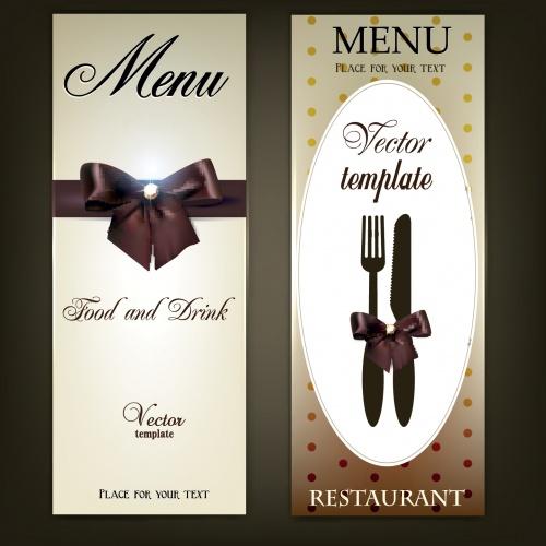 Винтажные меню, часть 2 / Vintage menu in vector, collection part 2