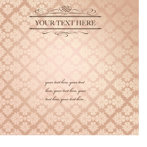 Vintage design invitation card