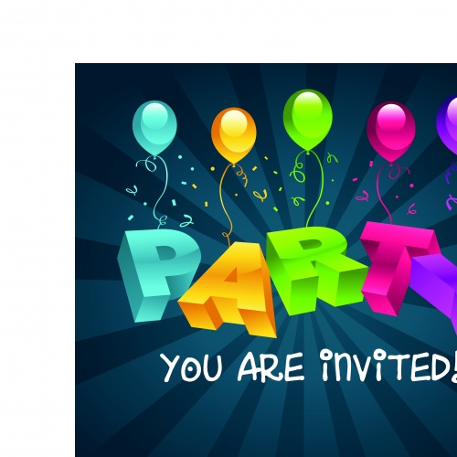 Открытка с днём рождения воздушные шарики | Happy birthday greeting card with balloons vector