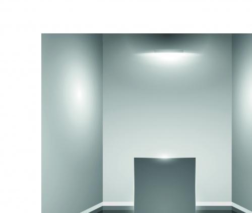 Интерьер пустая витрина | Interior showroom with empty wall and light vector