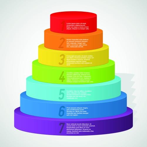 Rainbow Pyramids Banners Vector