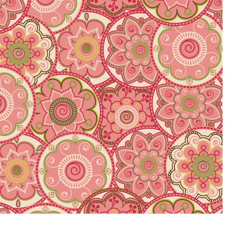 Seamless pattern with floral paisley