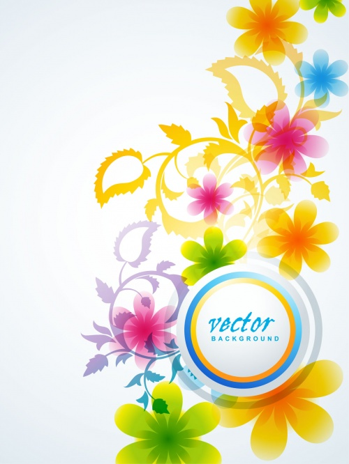 Design Elements. Цветы #2 - Векторный клипарт