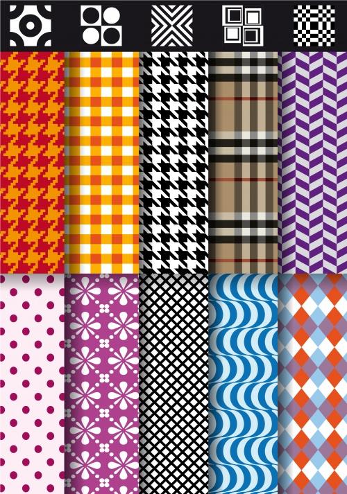 Паттерны пледов 4 | Plaid patterns 4