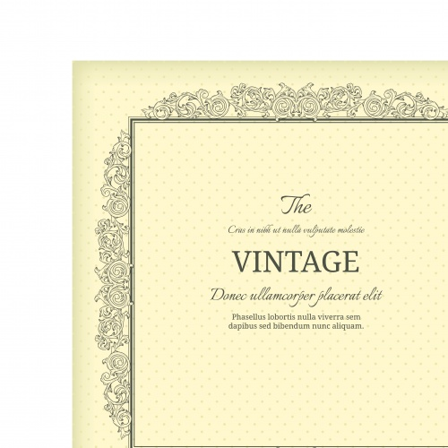 Винтажные рамки | Vintage frame vector backgrounds