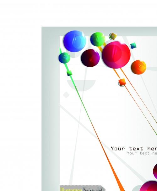 Постеры дизайн на белом листе | White paper poster concept design vector