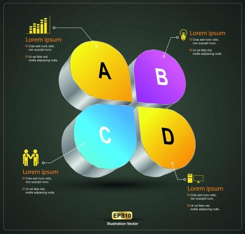Инфографики креативный дизайн часть 12 | Infographic creative design vector set 12