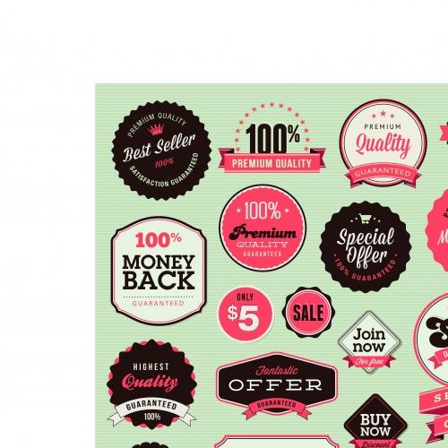 Наклейки скидка | Labels discounts sale vector