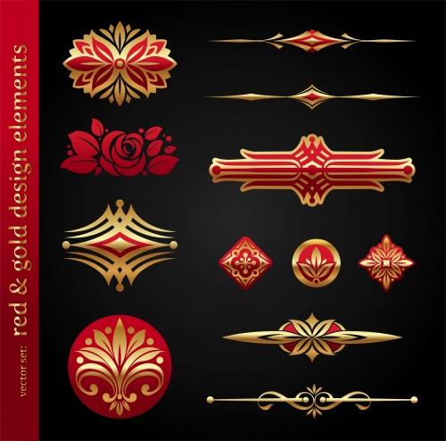 Золотые орнаменты и декоративные рамки в векторе / Ornate golden decorative vector frame