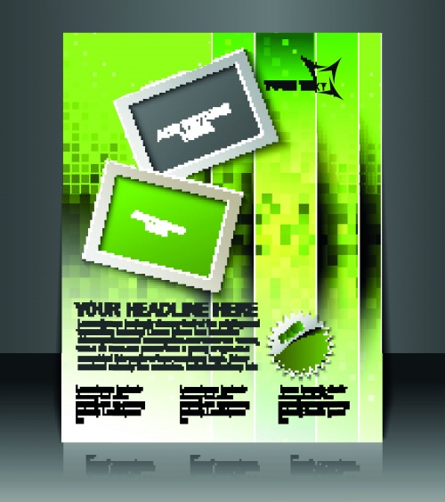 Брошюра флаер оригинальный стильный дизайн часть 2 | Brochure flyer original stylish design vector set 2