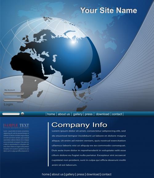 Фон с земным шаром 2 | Background with globe 2