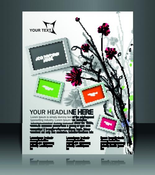 Брошюра флаер оригинальный стильный дизайн | Brochure flyer original stylish design vector
