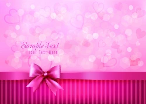 Элегантные праздничные фоны с леной и бантом | Elegant holiday background with gift bow and ribbon vector
