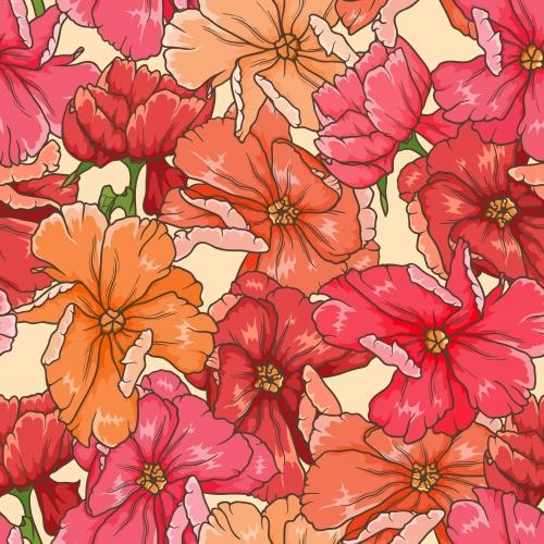Vector stock - Фоны с красными цветами / Red flower backgrounds