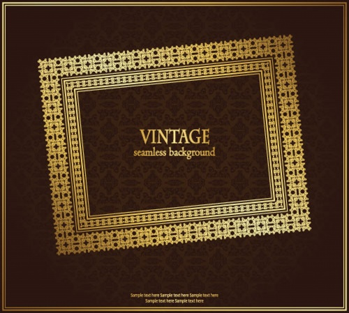 Vintage frame in retro style