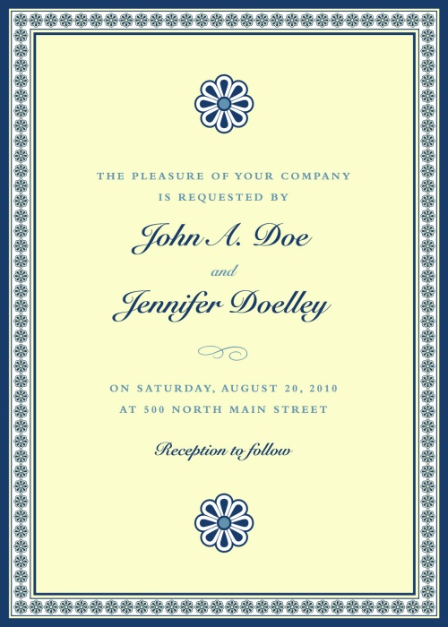 Vintage Elegant Invitations Vector