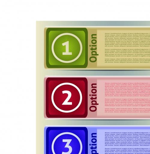 Баннеры с номерами часть 10 | Number banners vector set 10