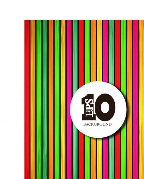 Разноцветные доски фоны | Colorful wooden vector background