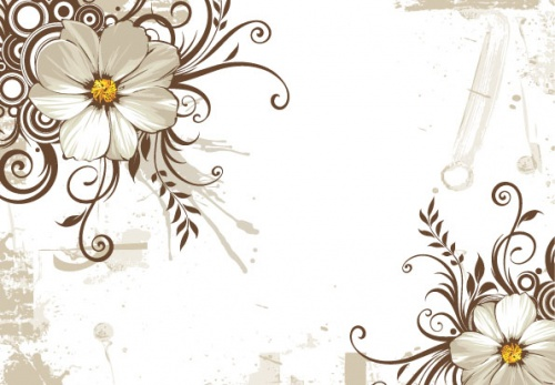 Beautiful Vintage Vector Flowers Backgrounds