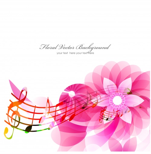 Musical Backgrounds Vector Set #1
