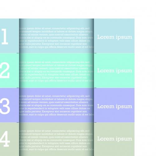 Современные шаблоны баннеры с номерами | Modern design template banner number vector