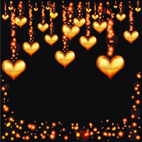 Sparkling Hearts Backgrounds Vector