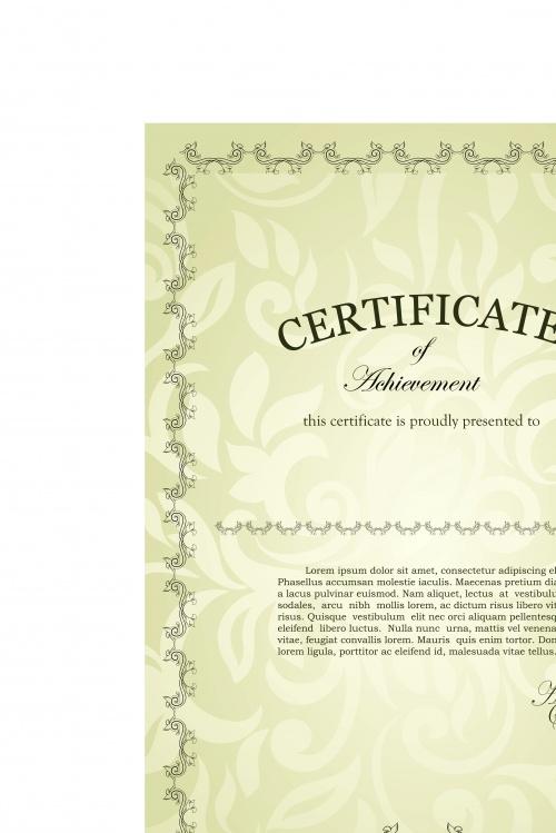Сертификаты винтажный стиль | Certificate vintage style design vector