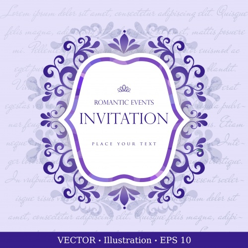 Vector backgrounds with an ornament for the invitation