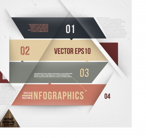 Abstract banner design for infographics