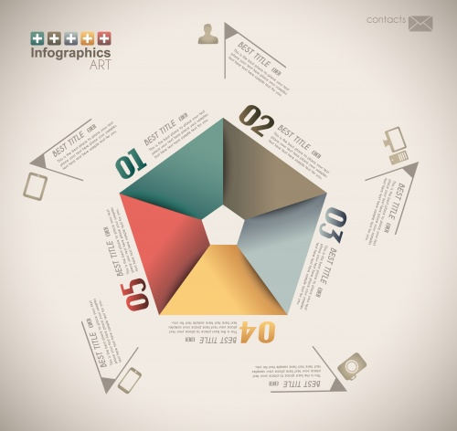 Infographics design elements in vector