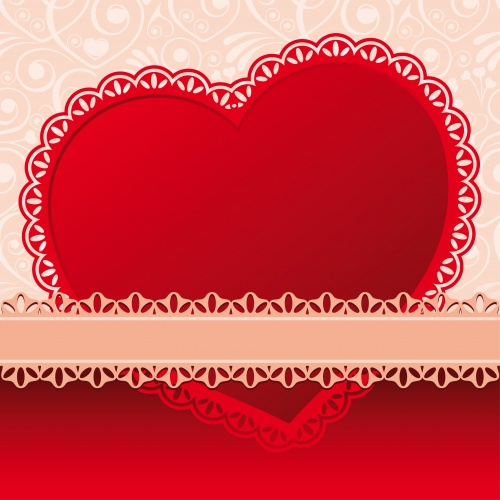 Vintage backgrounds by holidays with tapes and hearts in a vector