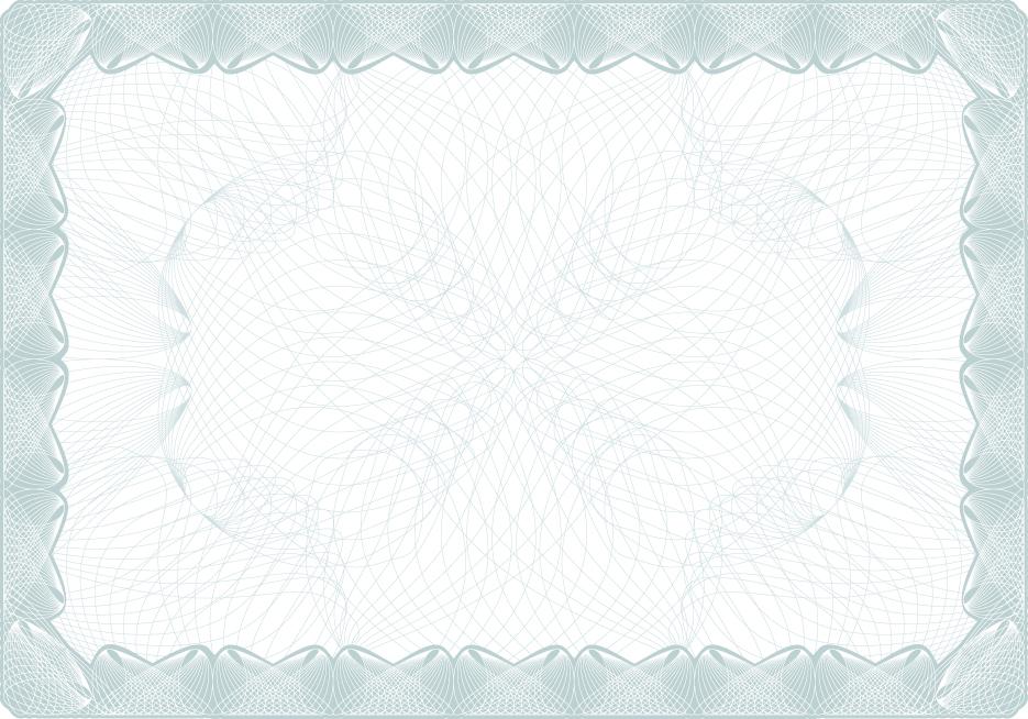 Векторный фон для сертификата