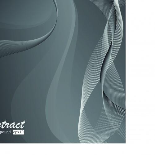 Чёрно белые абстрактные фоны | Black and white abstract vector backgrounds set 2
