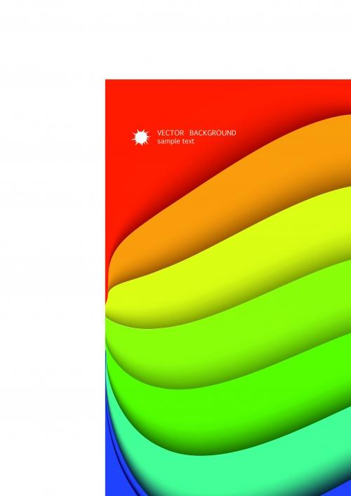 Цвета радуги фоны | Rainbow color vector background