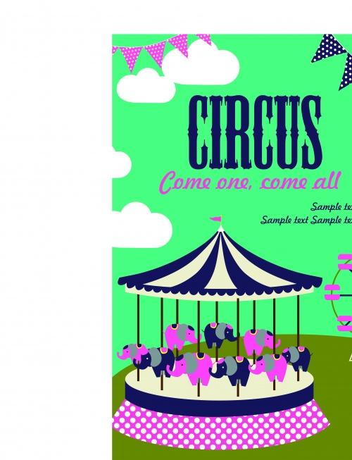 Цирк постеры часть 7 | Circus poster vector set 7