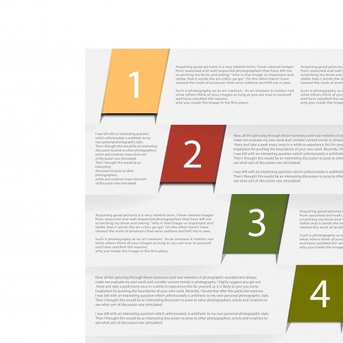 Баннеры с номерами часть 16 | Banners with numbers vector set 16