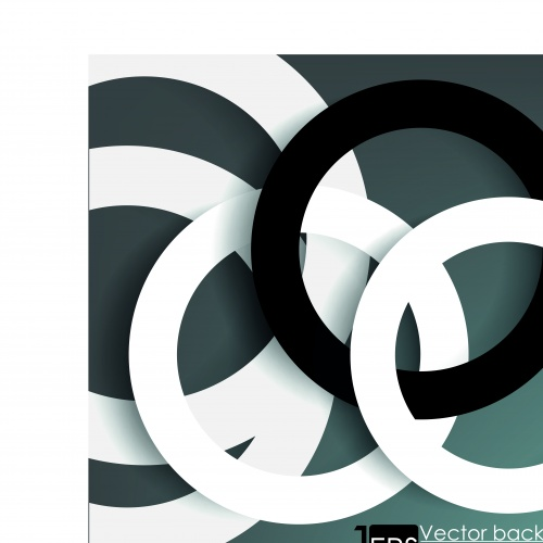 Фоны с кольцами современный дизайн | Modern with a ring vector backgrounds
