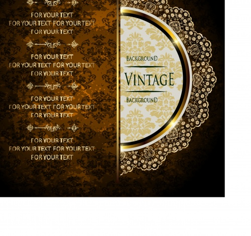 Luxury vintage greeting card