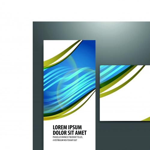Брошюра из трёх страниц часть 24 | Tri fold business brochure vector set 24