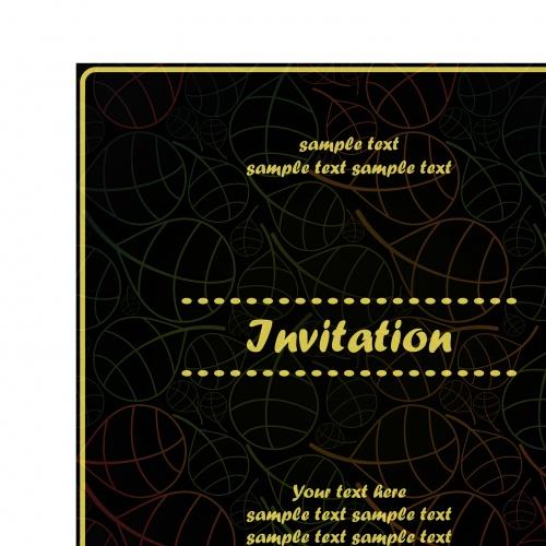 Пригласительные обложка флора | Floral invitation cover vector